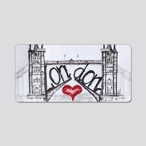 London with love Aluminum License Plate
