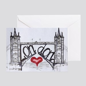 London with love Greeting Card