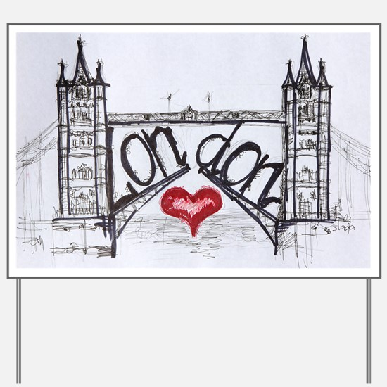 London with love Yard Sign