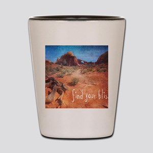 Find Your Bliss Shot Glass