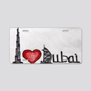 I love Dubai Aluminum License Plate