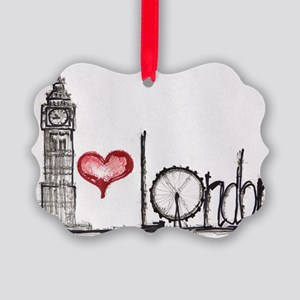 I love London Picture Ornament