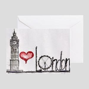 I love London Greeting Card