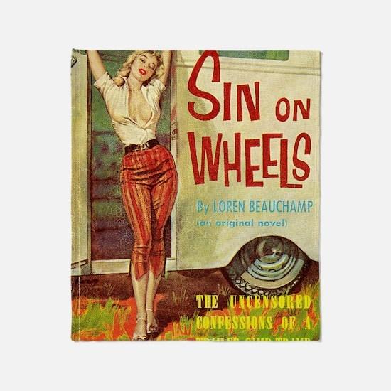 Sin On Wheels Throw Blanket