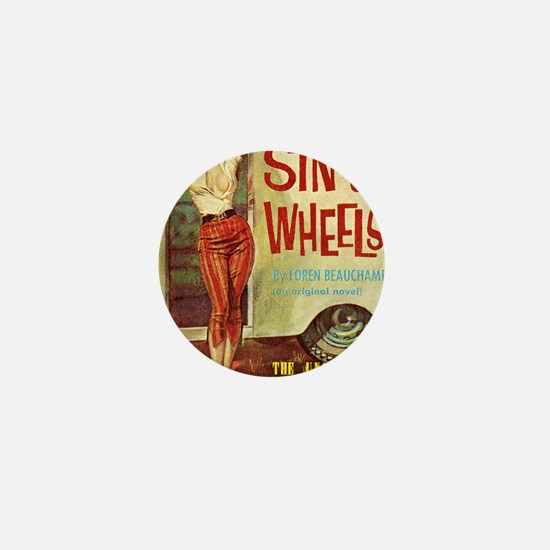 Sin On Wheels Mini Button
