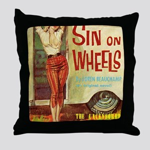 Sin On Wheels Throw Pillow