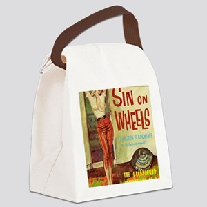 Sin On Wheels Canvas Lunch Bag