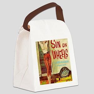 Sin On Wheels Canvas Lunch Bag