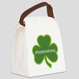 #bostonstrong shamrock Canvas Lunch Bag