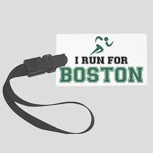 I RUN FOR BOSTON Large Luggage Tag