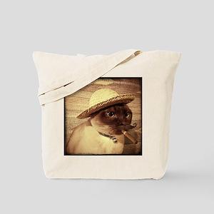 Gato w/Cigar Tote Bag