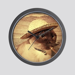 Gato w/Cigar Wall Clock