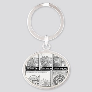 Notre Dame Oval Keychain