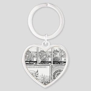 Notre Dame Heart Keychain