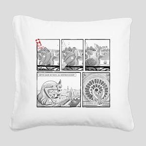Notre Dame Square Canvas Pillow