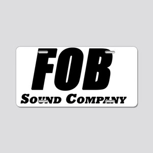 FOB Sound Company logo with Aluminum License Plate
