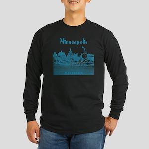 Minneapolis_10x10_Spoonbr Long Sleeve Dark T-Shirt