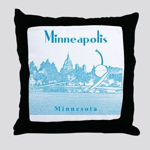 Minneapolis_10x10_SpoonbridgeAndCherr Throw Pillow