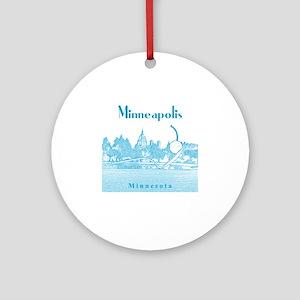 Minneapolis_10x10_SpoonbridgeAndChe Round Ornament
