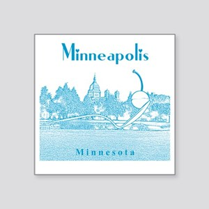 "Minneapolis_10x10_Spoonbrid Square Sticker 3"" x 3"""