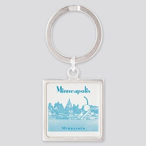 Minneapolis_10x10_SpoonbridgeAndCh Square Keychain