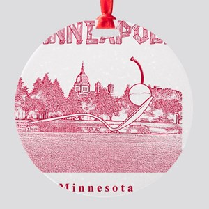 Minneapolis_12x12_Spoonbridge  Cher Round Ornament