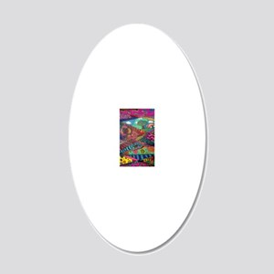 Segments of the Imagination 20x12 Oval Wall Decal