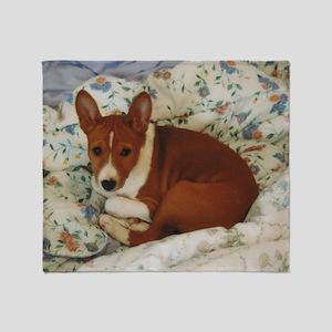 Cute Basenji Puppy Throw Blanket