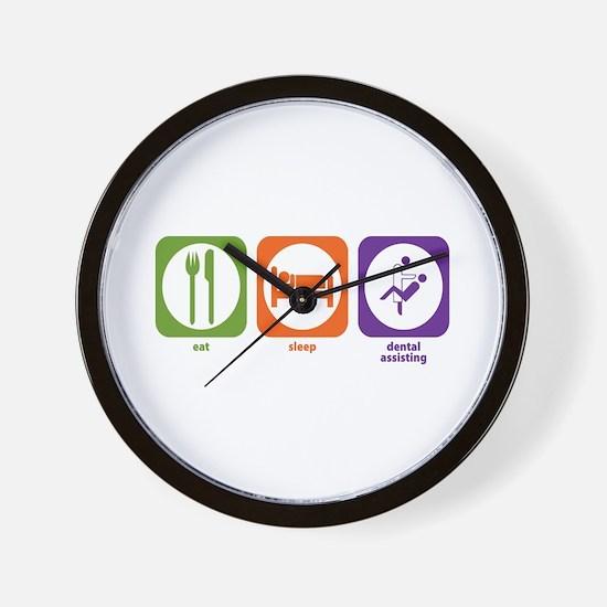 Eat Sleep Dental Assisting Wall Clock