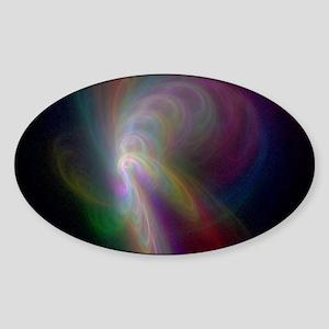 Rainbow Storm Sticker (Oval)