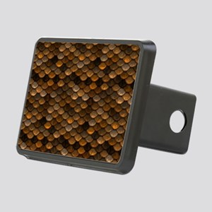 Golden Metal Scales Rectangular Hitch Cover