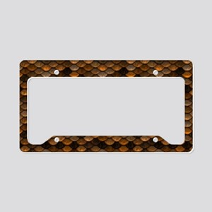 Golden Metal Scales License Plate Holder