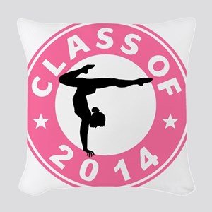 Class Of 2014 Gymnastic Woven Throw Pillow