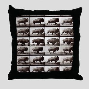 Tiny Buffalo Throw Pillow