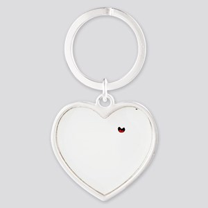 Jeeping DUDE white Image Heart Keychain