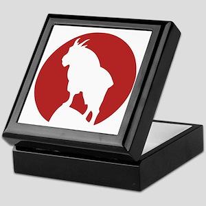 Great Northern Goat Red Keepsake Box