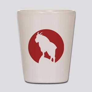 Great Northern Goat Red Shot Glass