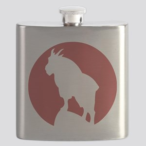 Great Northern Goat Red Flask
