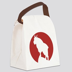Great Northern Goat Red Canvas Lunch Bag