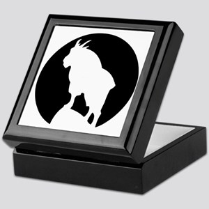 Great Northern Goat Black Keepsake Box