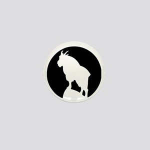 Great Northern Goat Black Mini Button