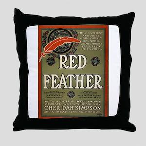 Red feather - Ackermann-Quigley Litho - 1906 Throw
