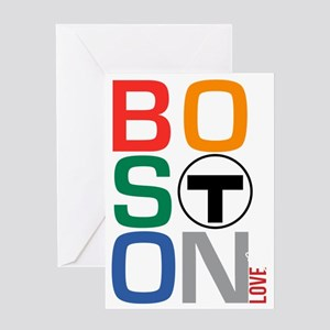 Boston Multi T Greeting Card