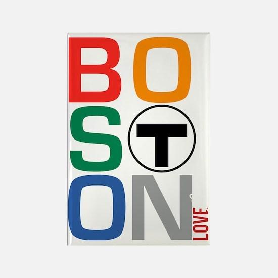 Boston Multi T Rectangle Magnet