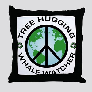 Tree Hugging, Whale Watcher Throw Pillow