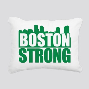 Boston Strong Green Rectangular Canvas Pillow