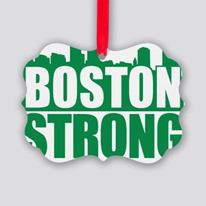 Boston Strong Green Picture Ornament