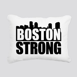 Boston Strong Black Rectangular Canvas Pillow