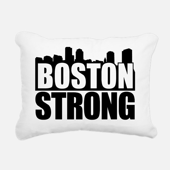 Boston Strong Black Rectangular Canvas Pillow