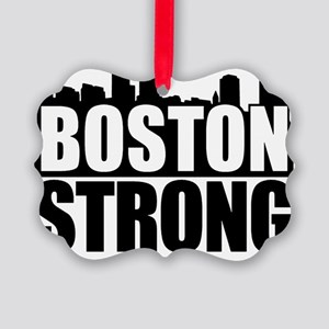 Boston Strong Black Picture Ornament